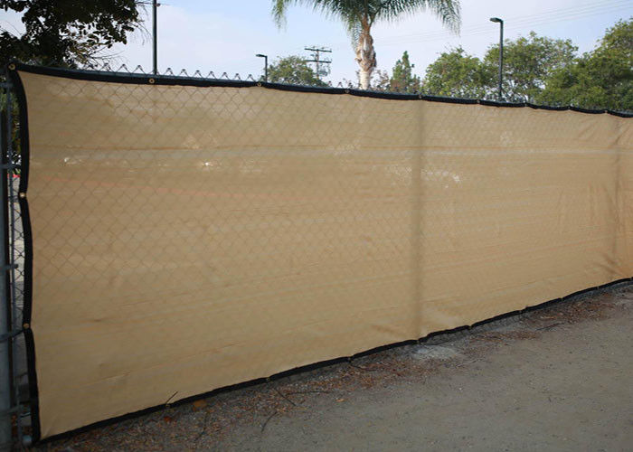 Chain Link Black Fence Windscreen , Anti Wind Black Privacy Fence Mesh